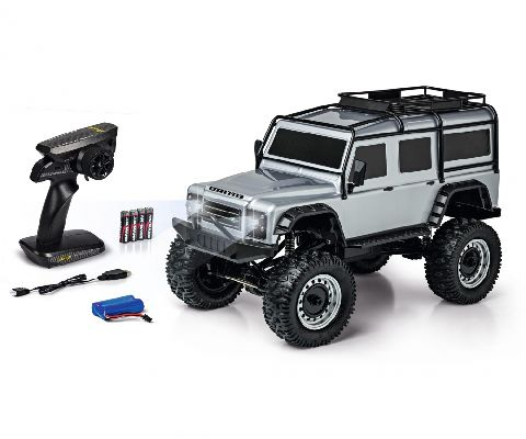 1:8 LAND ROVER DEFENDER SILVER 100% RTR 2.4 GHz