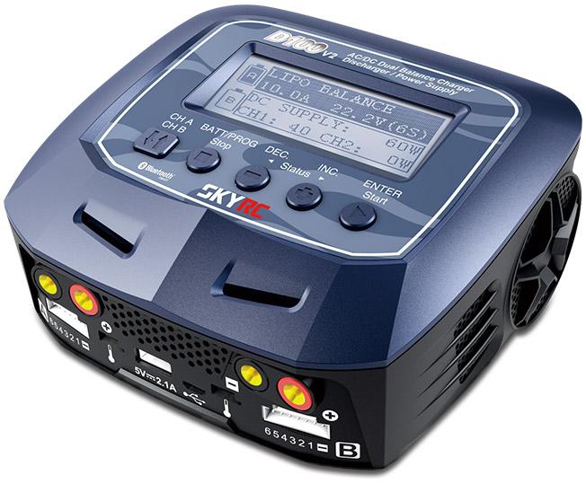SkyRC D100-V2 2x100W 240VAC/12DC Dual Computerlader www.rceksperten.no
