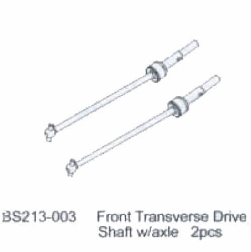 BSD FRONT TRANSVERSE DRIVE SHAFT 2PCS - RC Eksperten