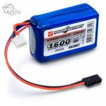 Mottaker Batteri Li-Fe 6.6V 1600mAh 3C Cube - RC Eksperten
