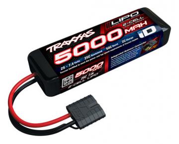 Traxxas 5000mAh 7.4v 2-Cell 25C LiPo Battery - RC Eksperten