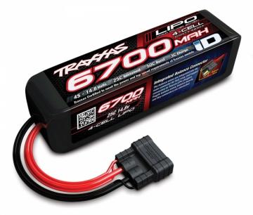 Traxxas Li-Po Batteri 4S 14,8V 6700mAh 25C iD-kontakt