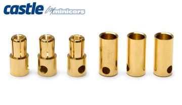 Castle 5.5mm Bullet Kontakter 3par 150A - RC Eksperten