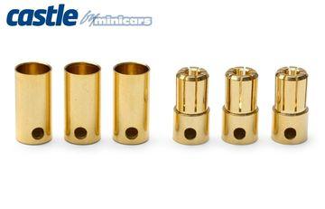 Castle 6.5mm Bullet Kontakter 3par 200A - RC Eksperten