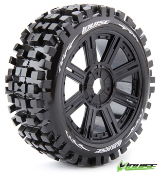 Louise B-ULLDOZE 1/8 Buggy Sport Tires on Black Wheels
