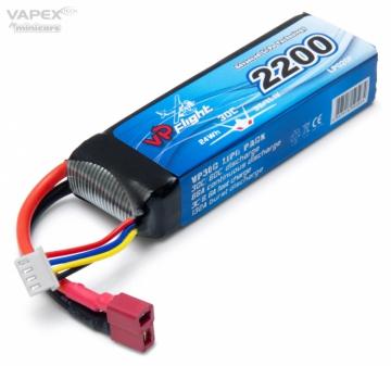 Vapex Li-Po Batteri 3S 11.1V 2200mAh 30C T-Kontakt
