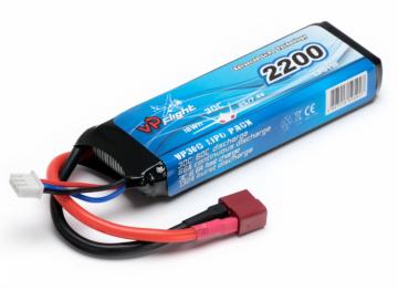 Vapex Li-Po Batteri 2S 7,4V 2200mAh 30C T-Kontakt