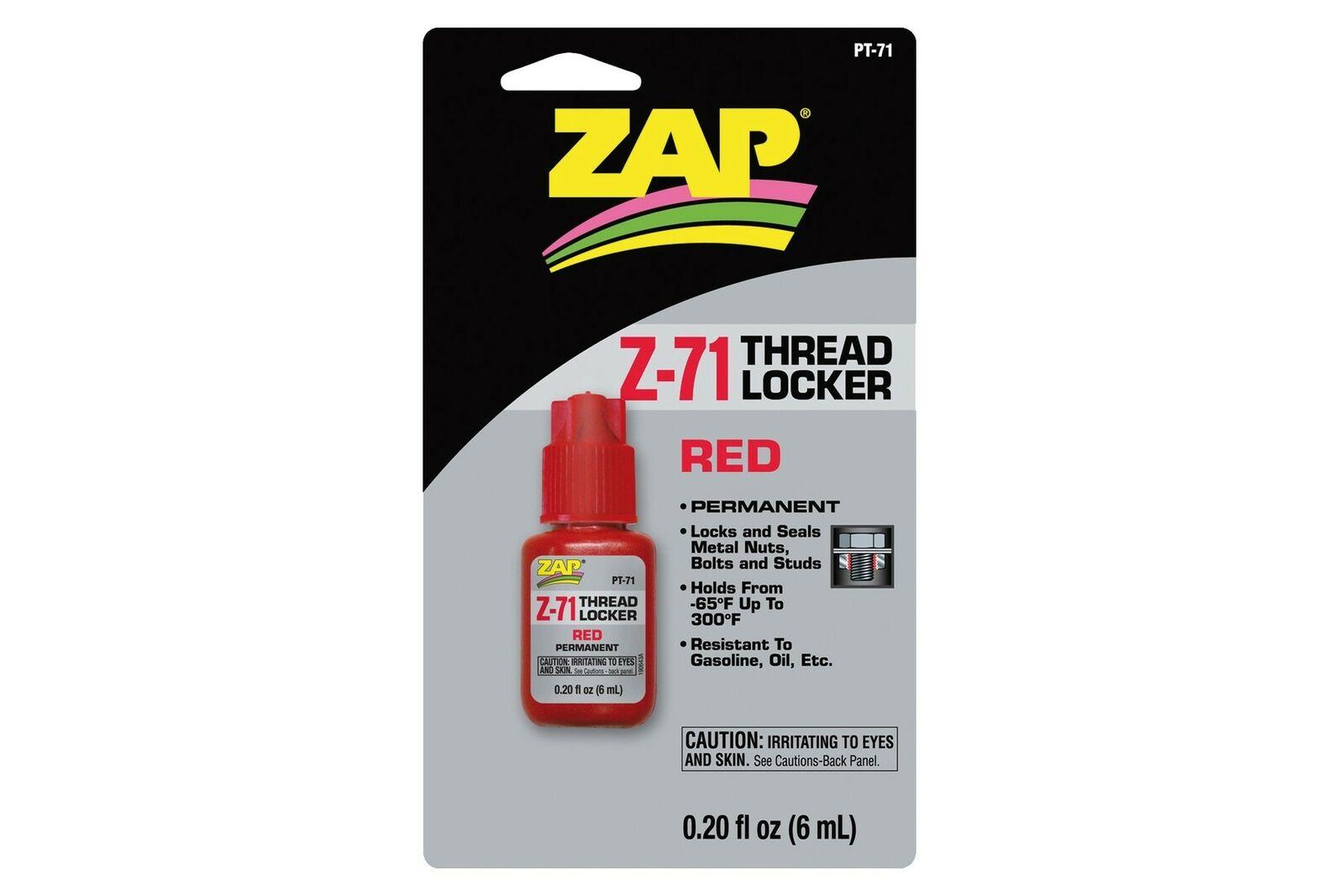 ZAP THREAD LOCKER PERMANENT 0.2OZ PT71