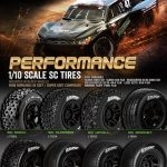 Louise SC-MAGLEV 1/10 Short Course Front Tires on Black Wheels 2 pk