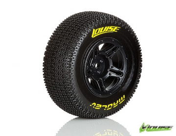 Louise SC-MAGLEV 1/10 Short Course & Rally Tires on Black Wheels 2 pk