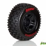 Louise SC-PIONEER 1/10 Short Course Front Tires on Black Wheels 2 pk