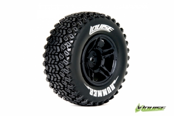 Louise SC-HUMMER 1/10 Short Course Tires on Black 2WD Front Wheels 2 pk