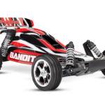 Traxxas Bandit 2WD 1/10 TQ Rød m/batteri og lader