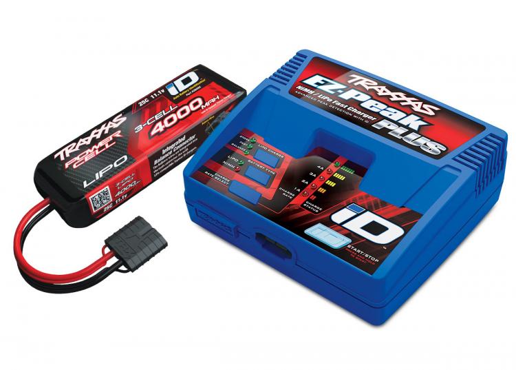 Traxxas Lader EZ-Peak Plus 4A og 3S 4000mAh Batteri Combo